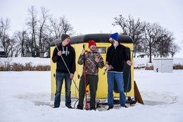 Ice Fishing in Thief River Falls