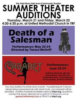 TRFACT 2019 Auditions Poster