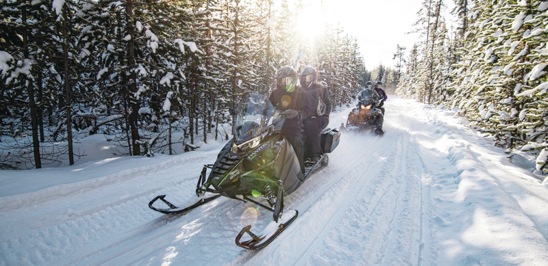 Winter snowmobiling in Thief River Falls